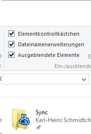 Windows10-Ansicht-Optionsfelder