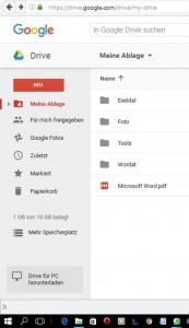 googleDrive-App für PC