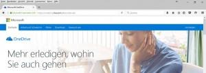 oneDrive-Anmeldelink