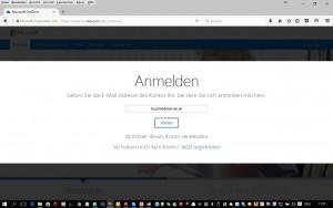 oneDrive-Anmeldung