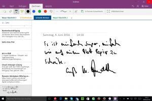 OneNote-Handschrift