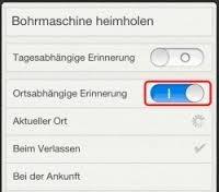 iPhone 5s Erinnerung ortsbezogen2