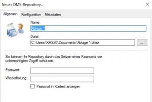Repository-Verzeichnis-wählen